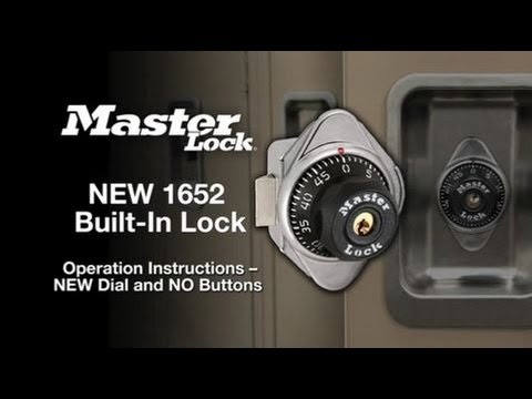 New Master Lock 1652 Combination Change Instructions