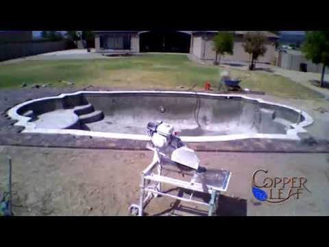 Time Lapse Swimming Pool Coping and Deck Installation