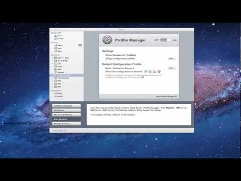 Mac OS Lion Server Pt 15: Profile Manager-Device Enrollment