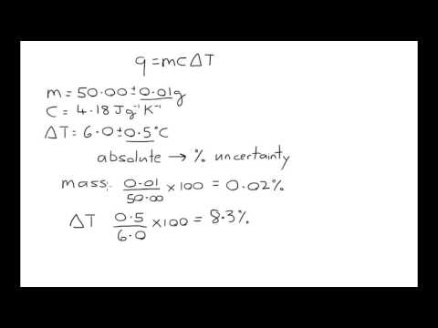 Calculating uncertainty part 3