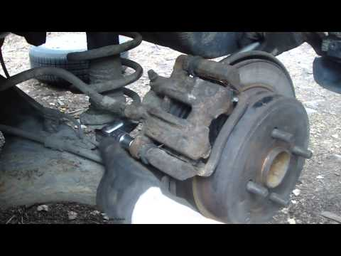How to replace rear brake pads Toyota Corolla years 2001 to 2014
