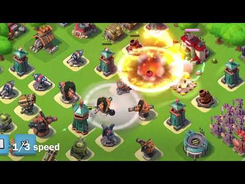 Boom Beach - Hidden Hero feature - Take out a whole base with Everspark