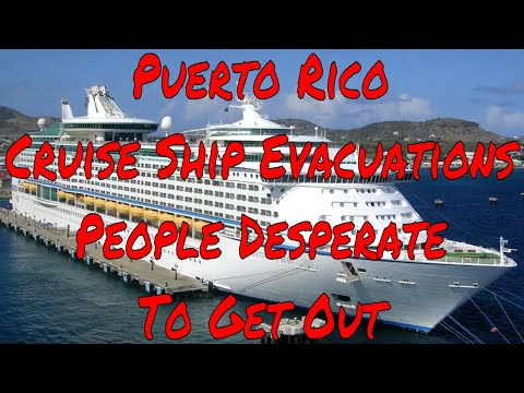 Puerto Rico Cruise Ship Evacuations Airport Delays People Lining up for Bread and Water