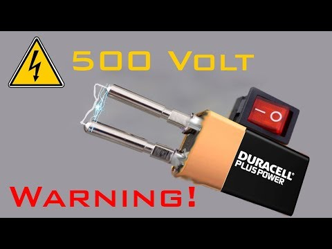 How to Make Taser Electric 500 Volts | TUTORIAL | DIY