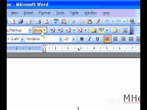 Microsoft Office Word 2003 Review tracked changes and comments and Review each item in sequence