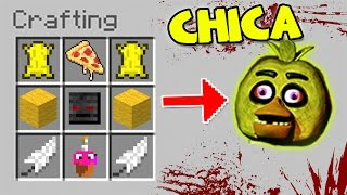 HOW TO SUMMON FNAF - MINECRAFT CRAFTING SCARY CHICA THE CHICKEN
