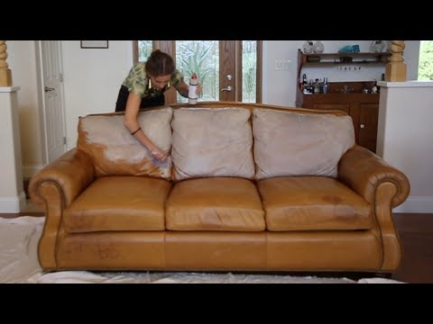 Restore Leather Couch with Conditioning Stain