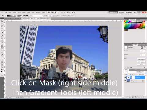 Photoshop Double Mask Overlap Gradient