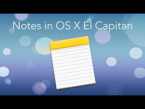 Notes: OS X El Capitan