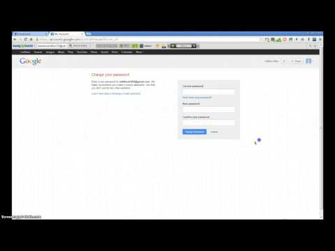 How To Change Your Youtube Password 2012