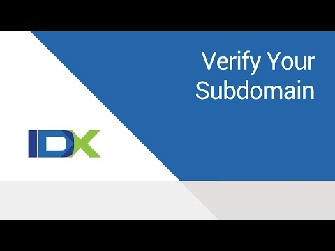 Verify Your Subdomain with Google