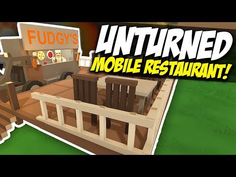 MOBILE RESTAURANT - Unturned Car Store | Squid Special! (Funny Moments)