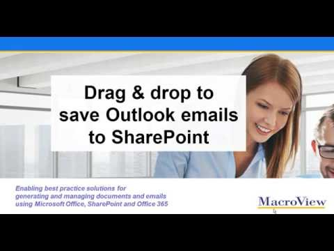Drag and Drop to Save Outlook Emails to SharePoint