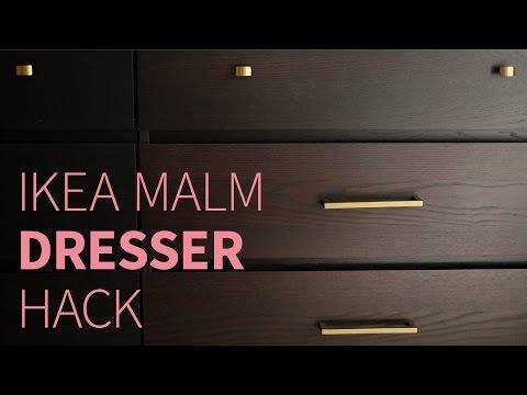 IKEA MALM dresser hack   How to