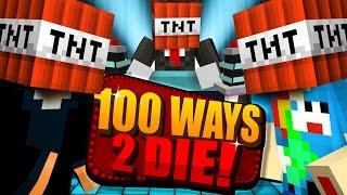 Minecraft: 100 WAYS TO DIE CHALLENGE - I BLEW THIS ONE