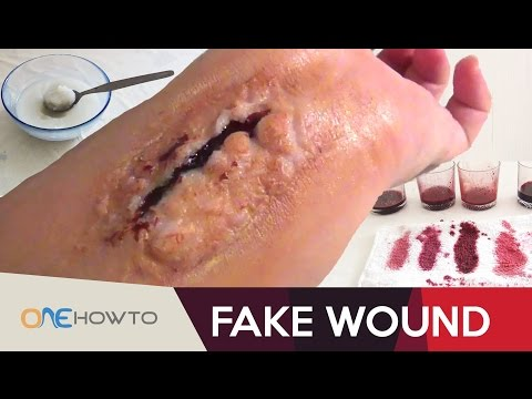 How To Make a Fake Wound in 2 Minutes - DIY Costume Tutorial
