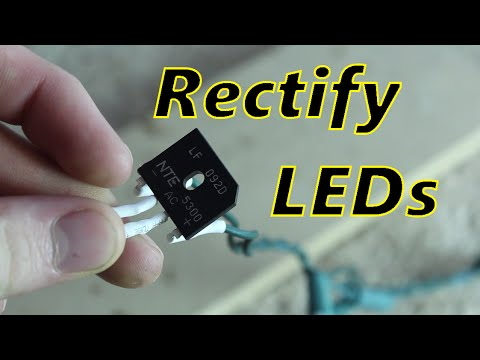 Fix Flickering LED Christmas lights! (rectifying LED lights)