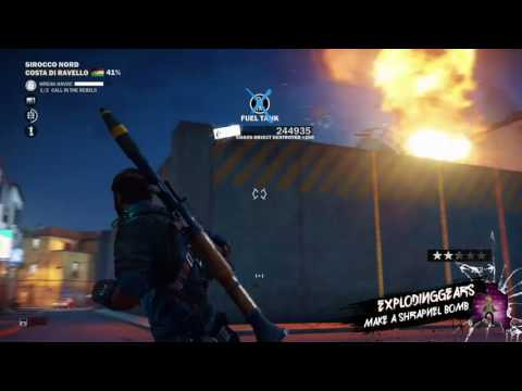 Record that: How to make a shrapnel bomb in Just cause 3