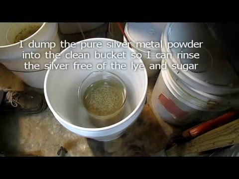Silver Chloride Conversion to Pure Silver with Lye and Sugar