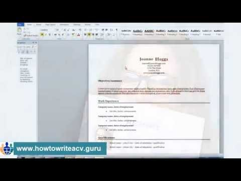How to add a photo to your résumé in Microsoft Word 2010
