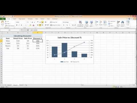 Calculate Discount Percentage in Excel