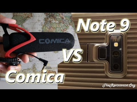 Unboxing Review of Comica CVM V30 Super Cardioid vs Samsung Note 9 Audio Capture Test
