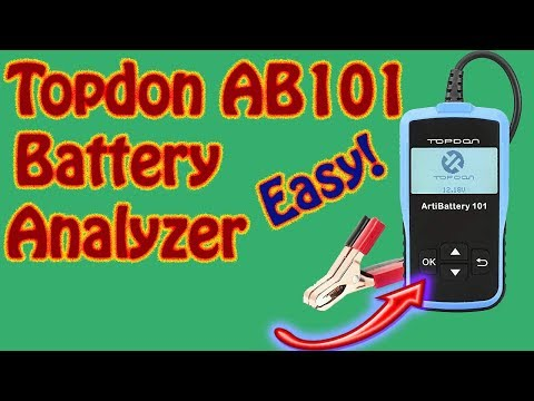 How to Test a 12V Battery With the TOPDON AB101 Battery Analyzer Topdon Artibattery Tester Review