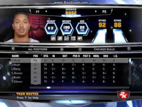 NBA 2K14:Edit Player |PC|