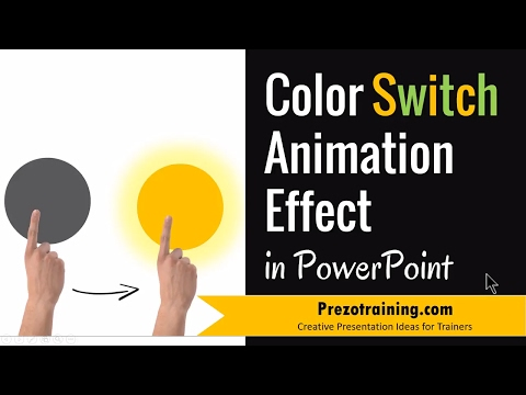 Color Switch Animation Effect in PowerPoint 2013 (WITH SOUND)