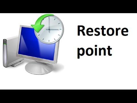 Create a restore point in windows