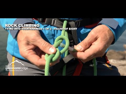 Rock Climbing - Tying into your harness 1 of 2 - Figure of Eight
