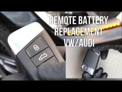 VW Keyless Remote Battery Replacement, & How To Start Car When the Remote is Dead 2016-2019
