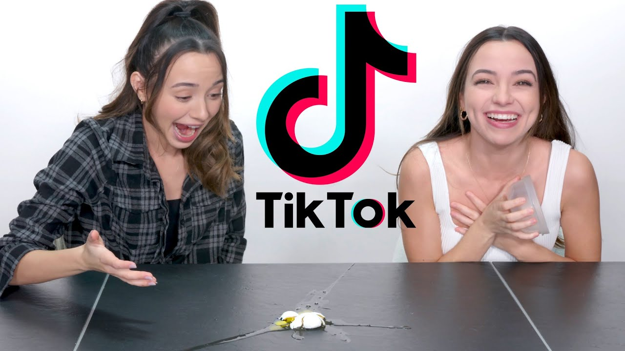 Trying Viral TikTok Challenges - Merrell Twins
