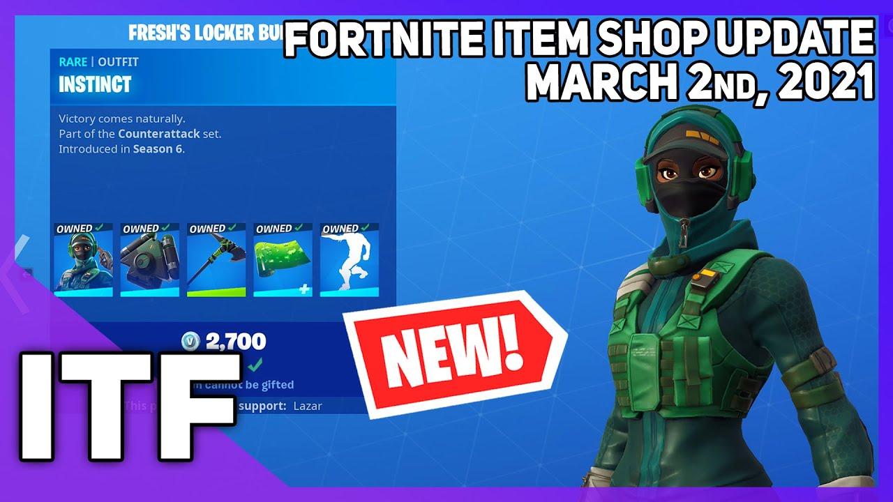 Fortnite Item Shop *NEW* FRESH'S LOCKER BUNDLE! [March 2nd, 2021] (Fortnite Battle Royale)