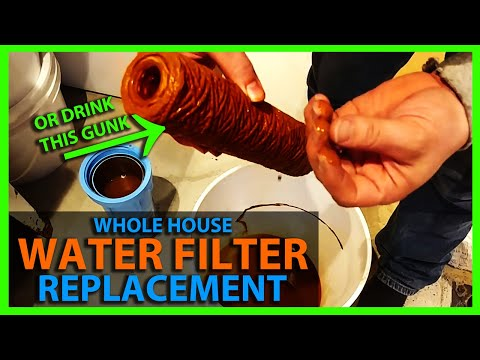How To Change a Whole House Water Filter - Replace Water Filter Cartridge