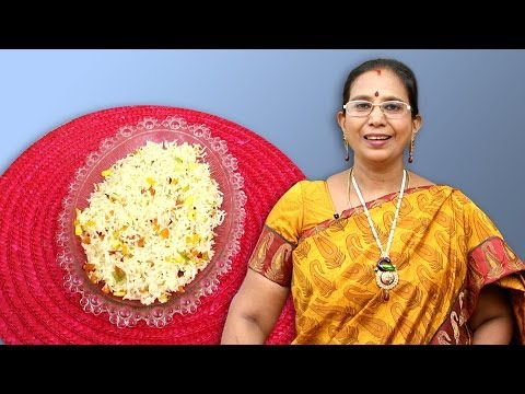 Sweet Corn Capsicum Rice Recipe | Mallika Badrinath Recipes | Cooking Videos