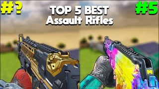 TOP 5 BEST ASSAULT RIFLES in COD MOBILE! SEASON 4 Official After Update! COD Mobile *RANKED*