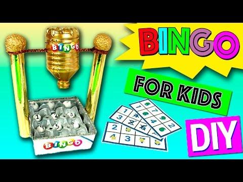 BINGO for kids * DIY homemade BINGO MACHINE