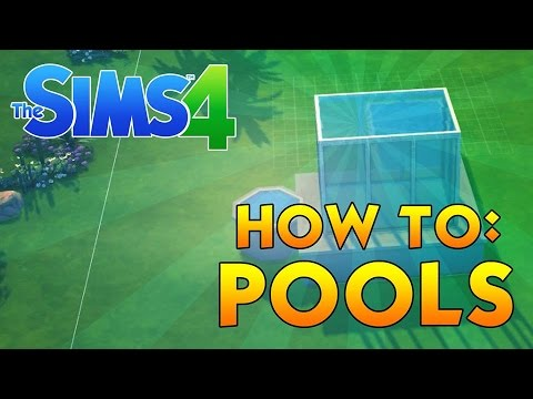 HOW TO: MAKE AN ABOVE GROUND & GLASS POOLS | Sims 4