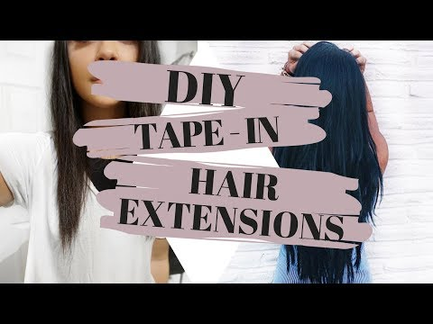 DIY / How To: Tape-In Hair Extensions! | TheSarahSalvini