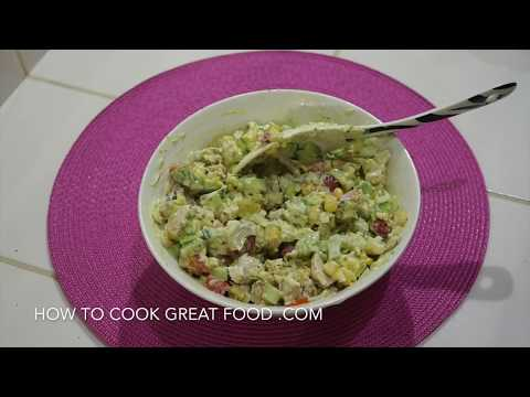 Chicken Avocado Salad Recipe - Great Sandwich Filler n Baked Potatoes