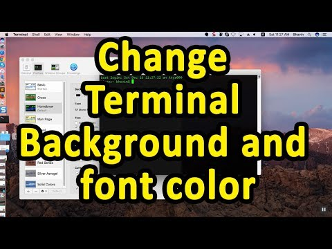 How to change TERMINAL BACKGROUND AND FONT COLOR in MacOS