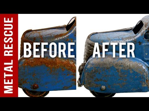 How To Remove Rust From A Vintage/Old Rusty Metal Toy Truck