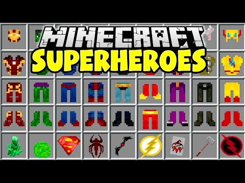 SUPERHEROES MINECRAFT MOD | Iron Man, Hulk, Thor, Superman!! | Minecraft Mods