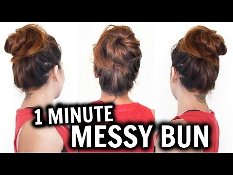 1 MIN MESSY BUN WITH A PENCIL│EASY BUN HAIRSTYLE TUTORIAL │HOW TO MAKE BUN HAIRSTYLE FOR LONG HAIR