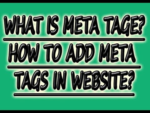 How To Add meta tags on PHP or HTML Website using White hat seo( SEO Tutorial) part 1