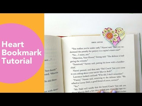 How to make a Bookmark, valentines crafts DIY, Tombow, Fiskars Punch, DIY gift for book lovers
