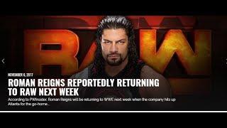 wwe Breaking: Roman Reigns WWE Return 2017 New WWE champions at WWE Raw UK  news wwe results