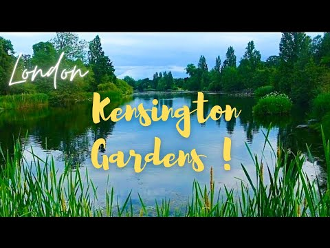 Kensington Gardens Hyde Park  London in 4K
