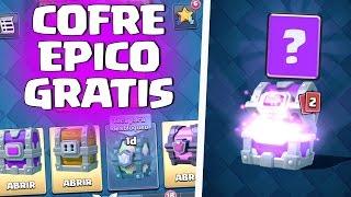 WOOOOW!! ABRO MI PRIMER COFRE EPICO GRATIS!!! - CLASH ROYALE ESPAÑOL